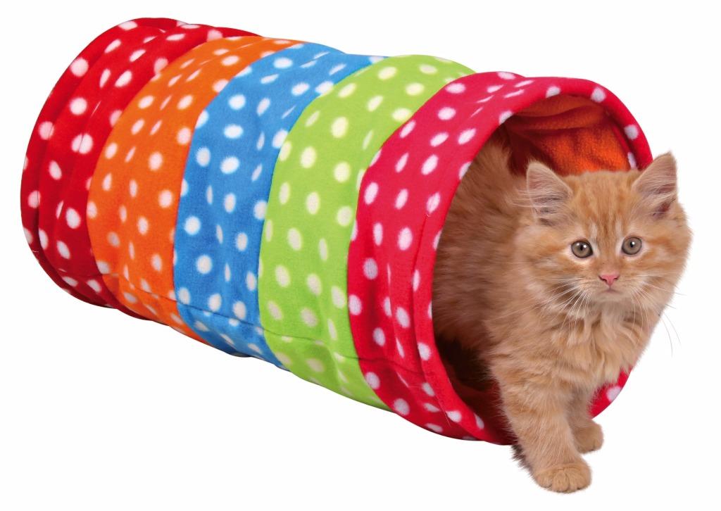 tunnel de jeu multicolore pour chat. Black Bedroom Furniture Sets. Home Design Ideas