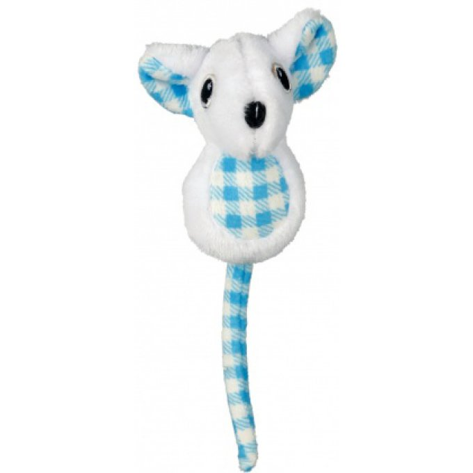 souris peluche à carreau