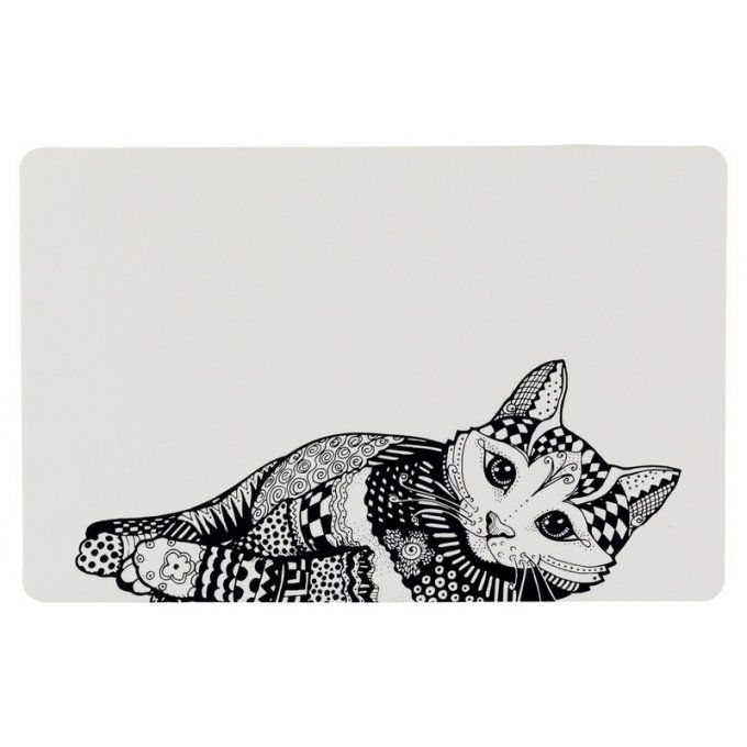 Set de table Zentangle pour chat