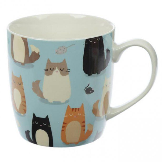 mug en porcelaine tendre chat