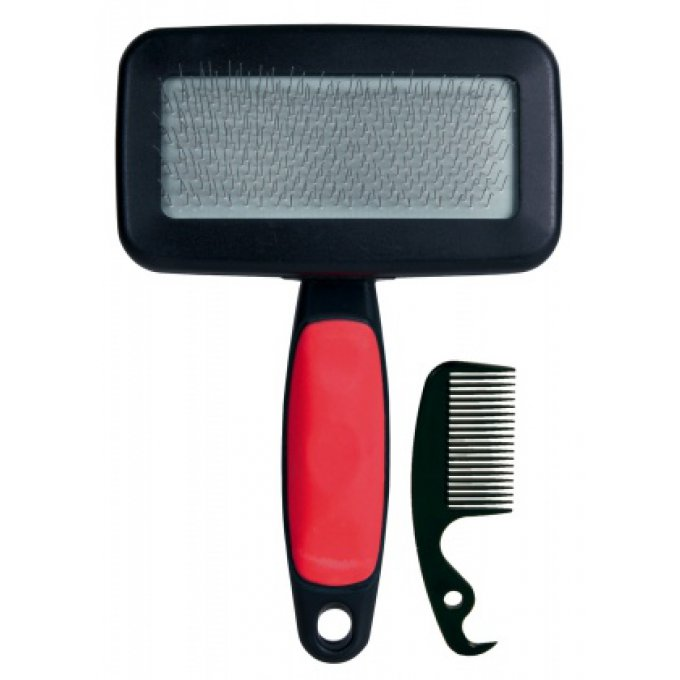 brosse carde rouge 10 x 13 cm