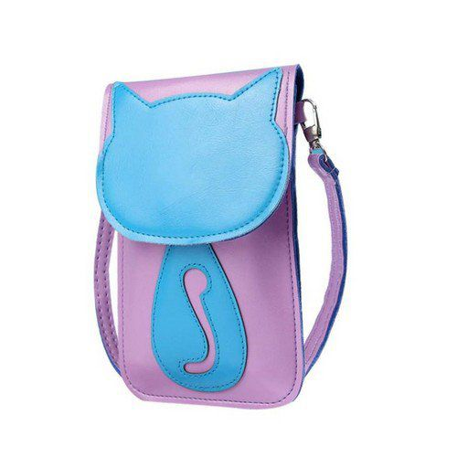 Pochette chat en relief