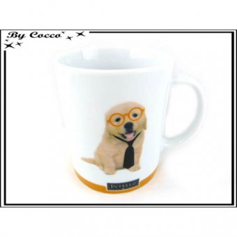 mug chien orange intello
