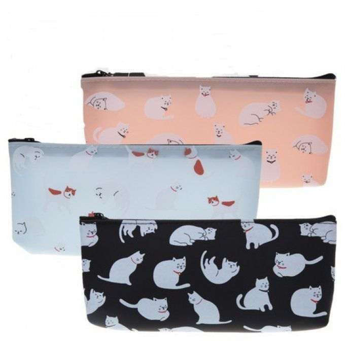 Trousse chat pastel
