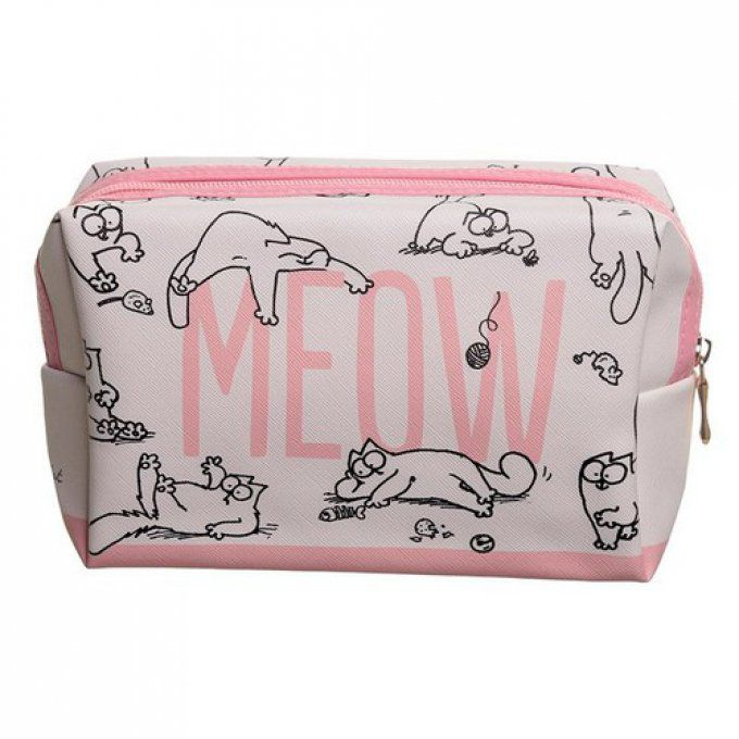 trousse maquillage chat meow simon's cat