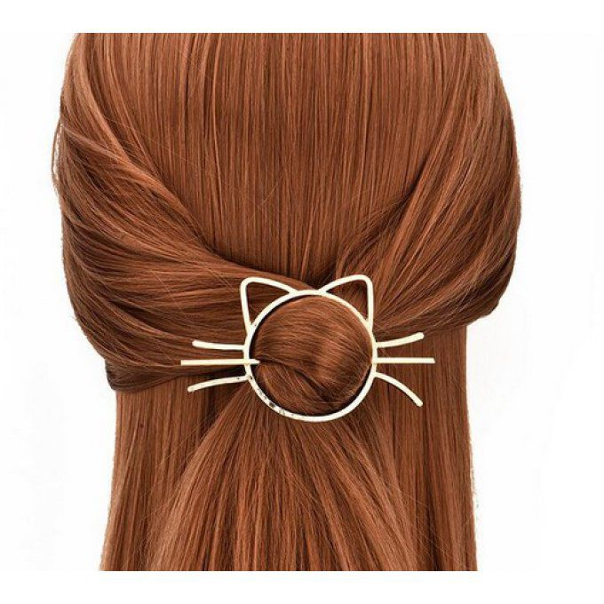 Barrette tête de chat