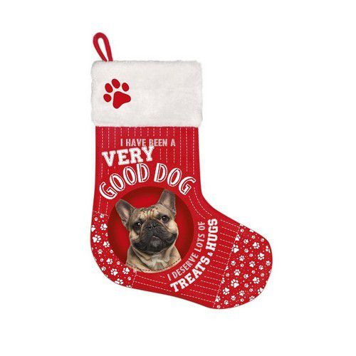 Botte de noël chien bouledogue