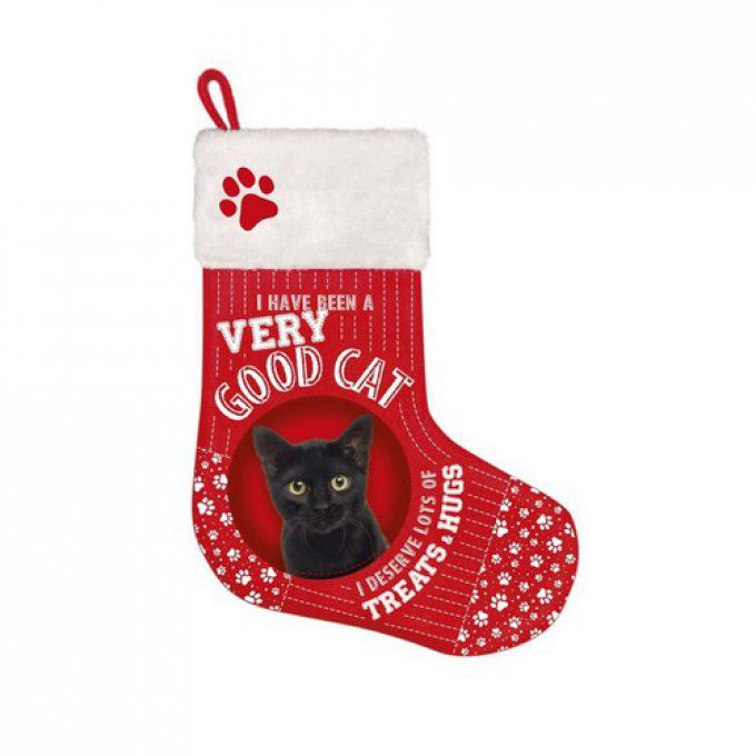 Botte de noël chat noir