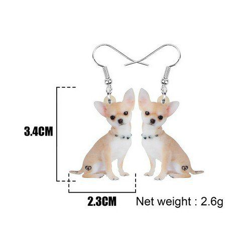Boucles d'oreilles chiot chihuahua