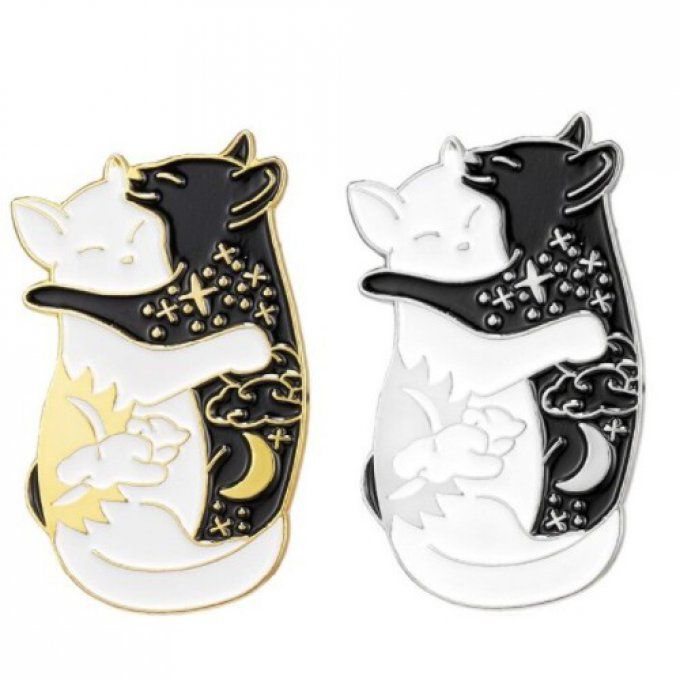 Broche pin's chats amoureux
