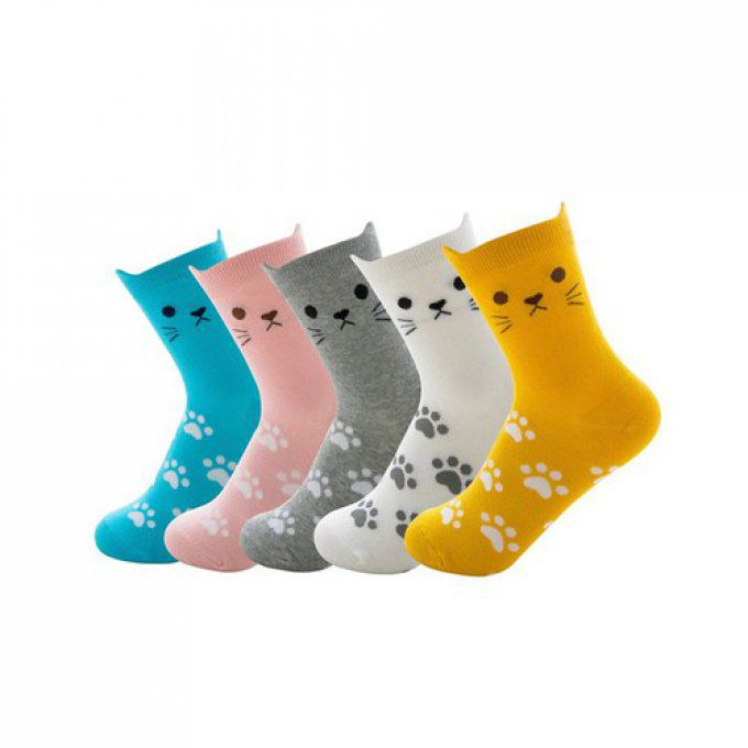 Chaussette chat patte