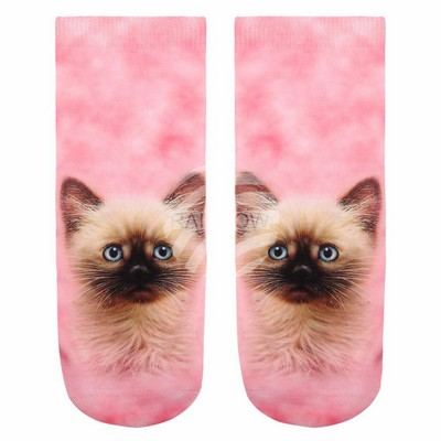 chaussette rose chat