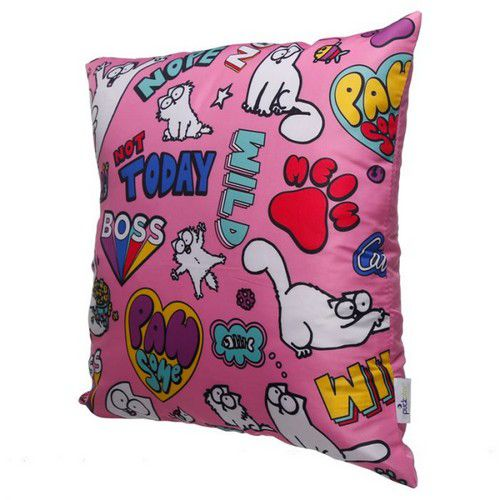 Coussin rose Simon's Cat