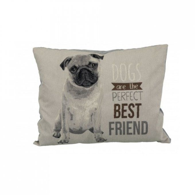coussin chien carlin