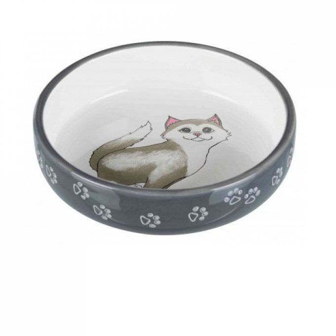 gamelle chat museau court 15 cm