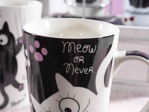 Mug en porcelaine chat best friends 15 cm