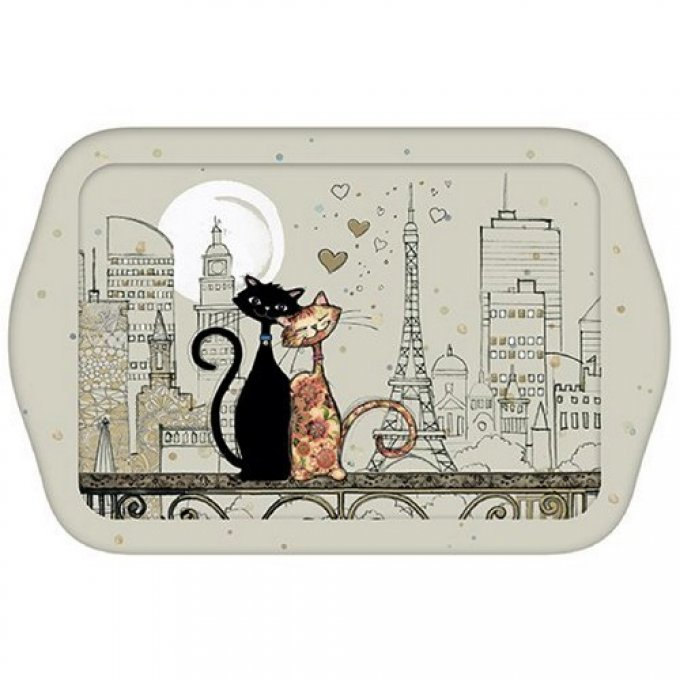 Plateau chats en couple collection bug art chats paris
