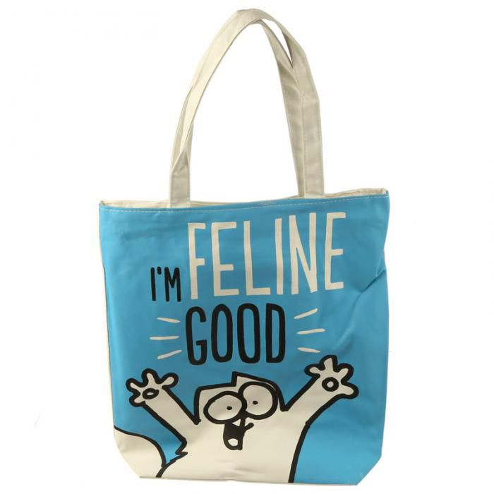 Sac en Coton à Fermeture Simon's Cat Feline Good- Chat