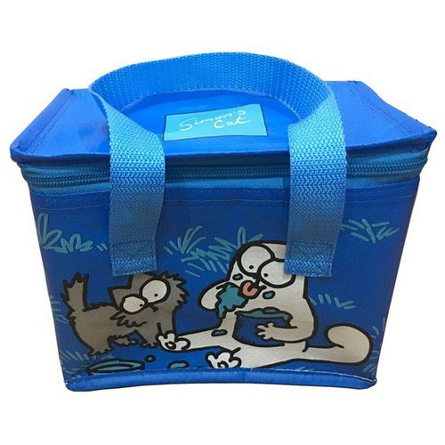 sac chat isotherme à pique-nique bleu simon's cat