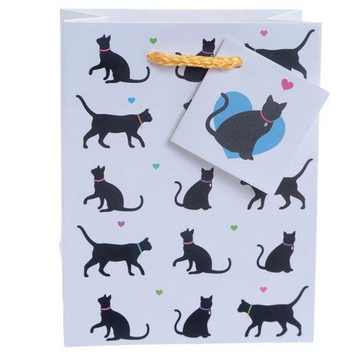 sac cadeau chat I love my cat