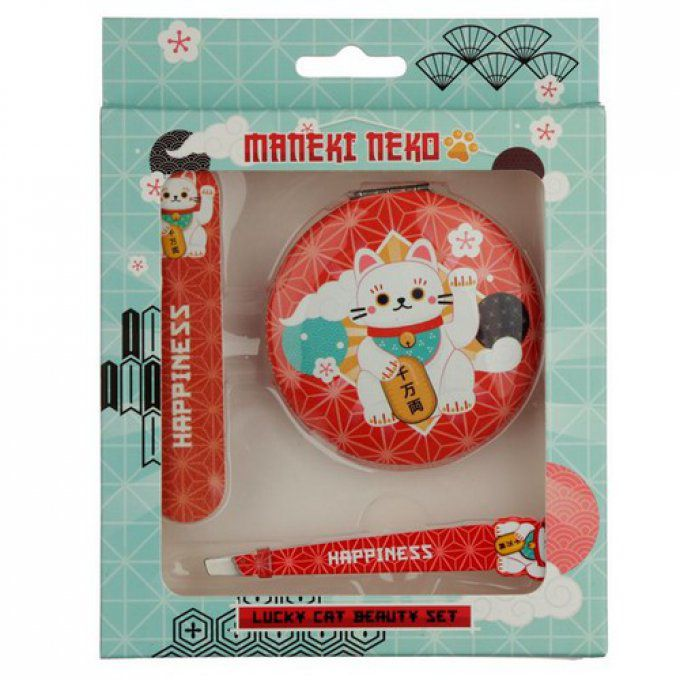 Set beauté chat maneki neko