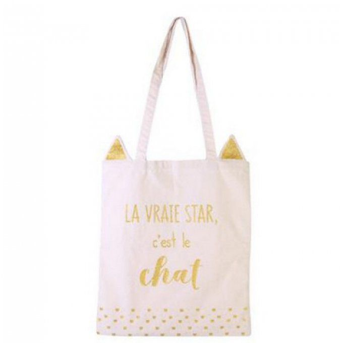 Sac en toile le chat star