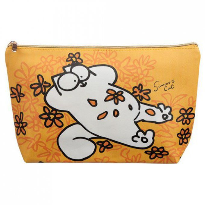 Trousse de toilette jaune chat simon's cat grande